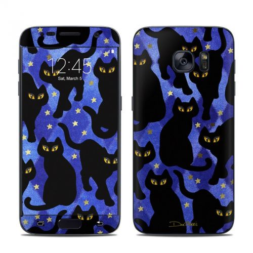 Cat Silhouettes Galaxy S7 Skin