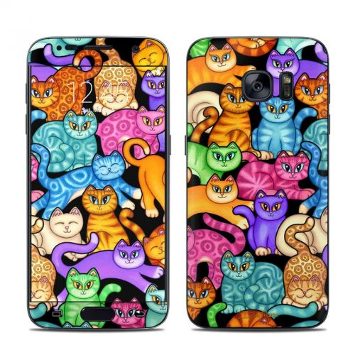 Colorful Kittens Galaxy S7 Skin