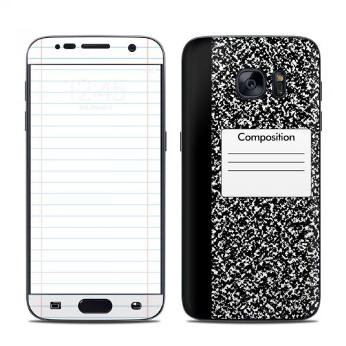 Composition Notebook Galaxy S7 Skin