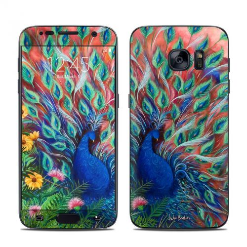 Coral Peacock Galaxy S7 Skin