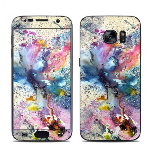 Cosmic Flower Galaxy S7 Skin