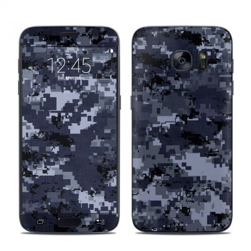Digital Navy Camo Galaxy S7 Skin