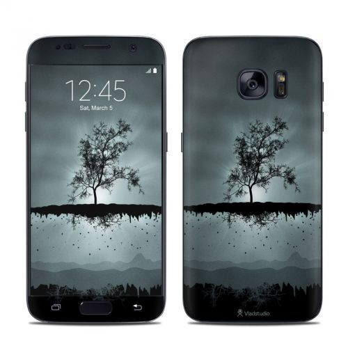 Flying Tree Black Galaxy S7 Skin