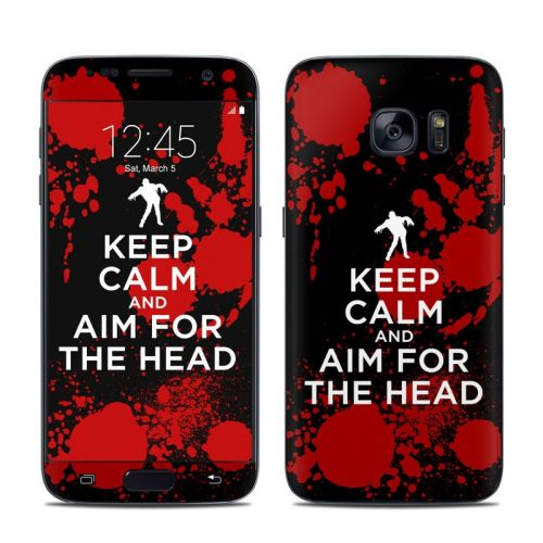 Keep Calm - Zombie Galaxy S7 Skin