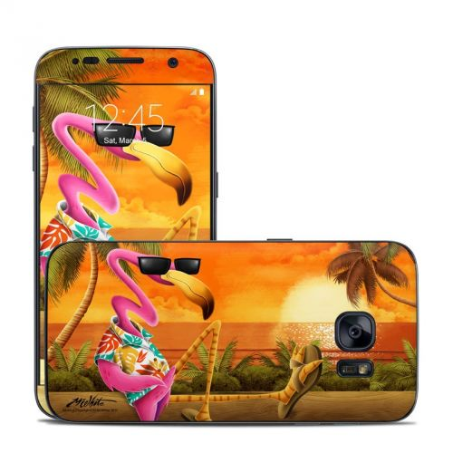 Sunset Flamingo Galaxy S7 Skin