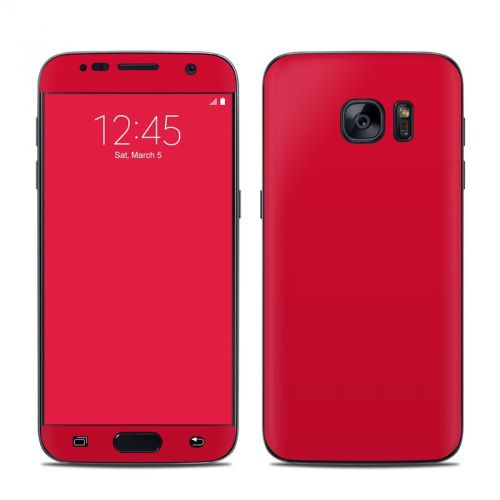 Solid State Red Galaxy S7 Skin