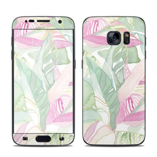 Tropical Leaves Galaxy S7 Skin