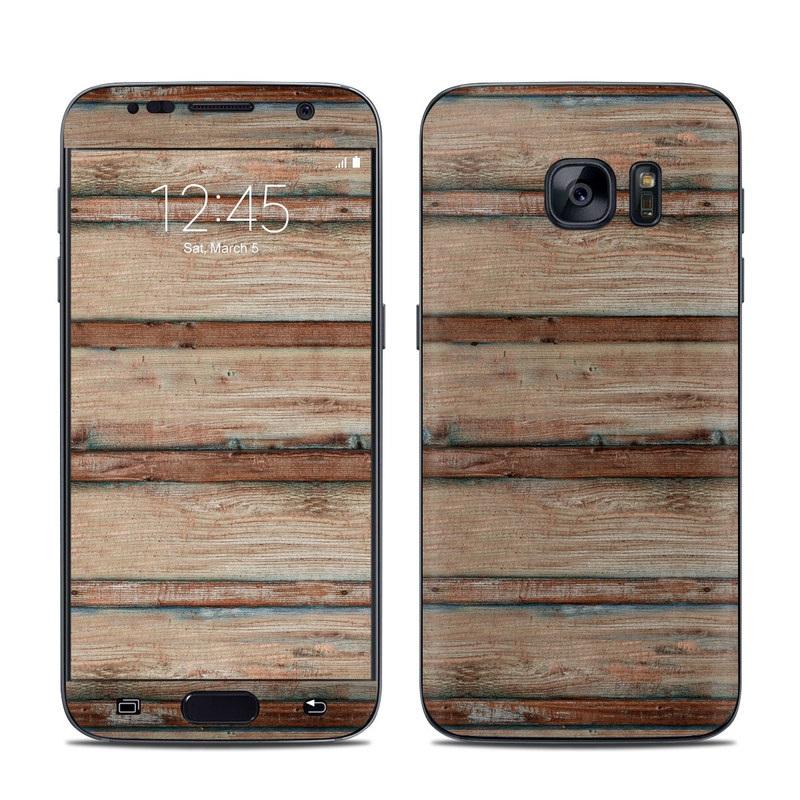 Boardwalk Wood Galaxy S7 Skin