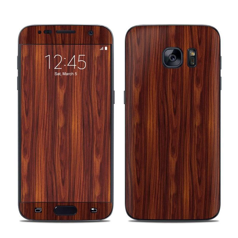 Dark Rosewood Galaxy S7 Skin