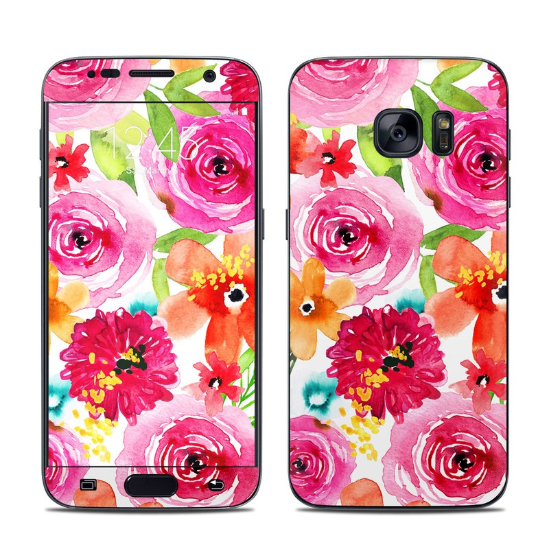 Floral Pop Galaxy S7 Skin