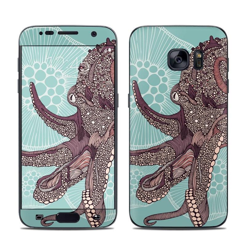 Octopus Bloom Galaxy S7 Skin