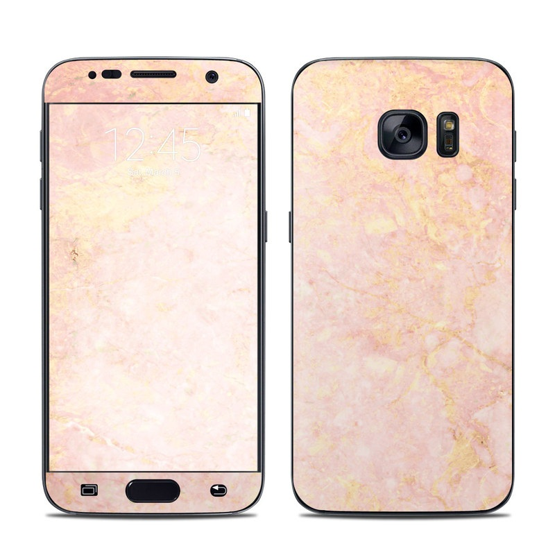 Rose Gold Marble Galaxy S7 Skin