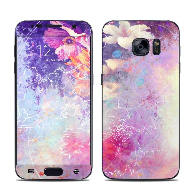 Sketch Flowers Lily Samsung Galaxy S7 Skin