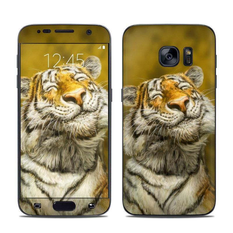 Smiling Tiger Galaxy S7 Skin