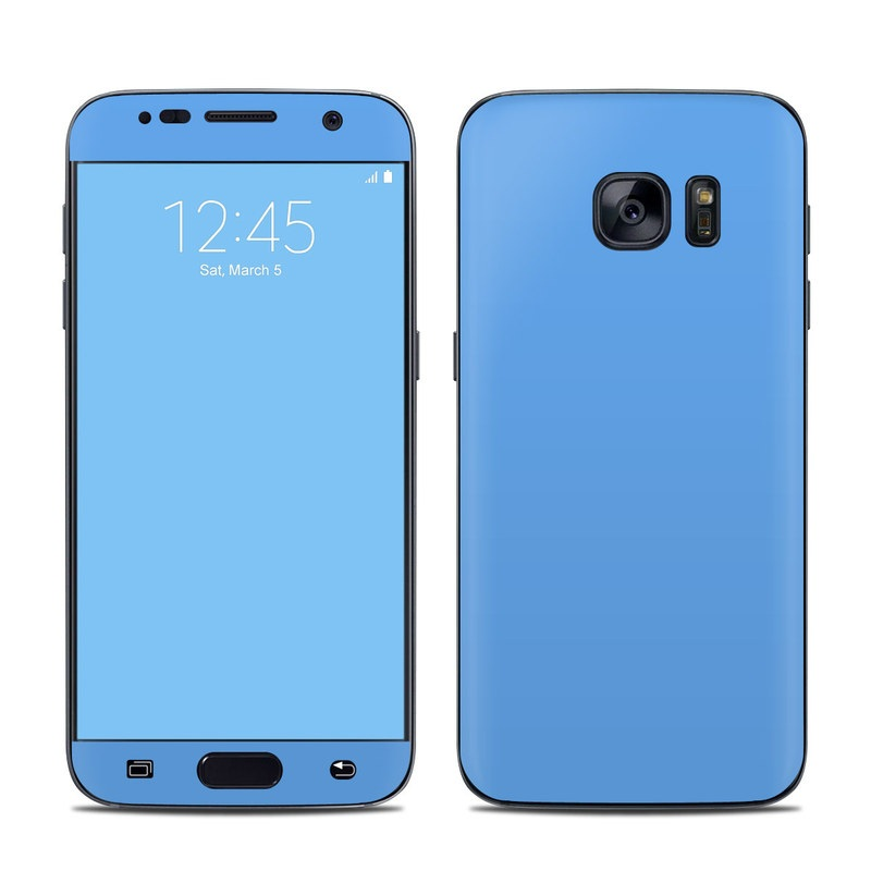 Solid State Blue Galaxy S7 Skin