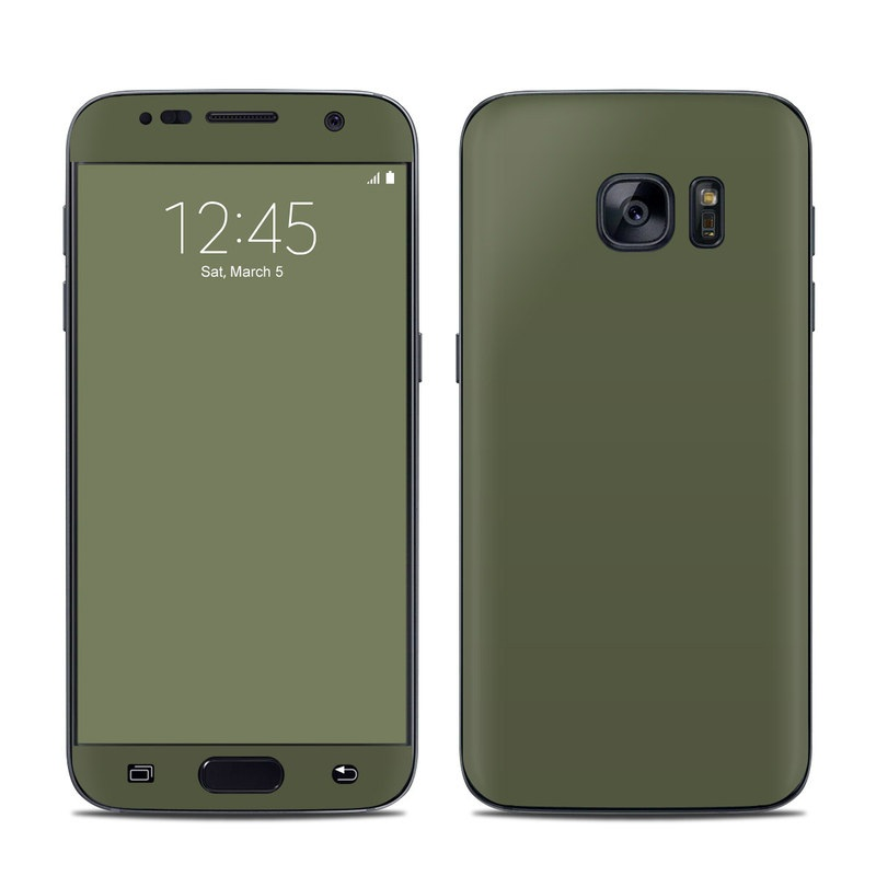 Solid State Olive Drab Galaxy S7 Skin