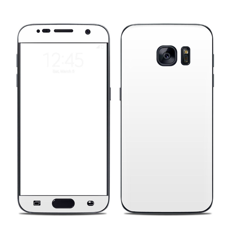 Solid State White Galaxy S7 Skin