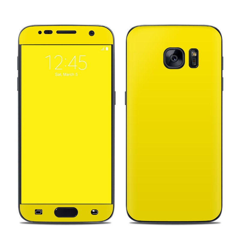 Solid State Yellow Galaxy S7 Skin