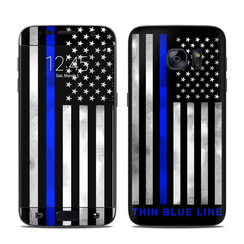 Samsung Galaxy S7 Skin design of Line, Flag, Text, Flag of the united states, Font, Parallel, Symmetry, Black-and-white, Pattern, Graphics with black, white, gray, blue colors