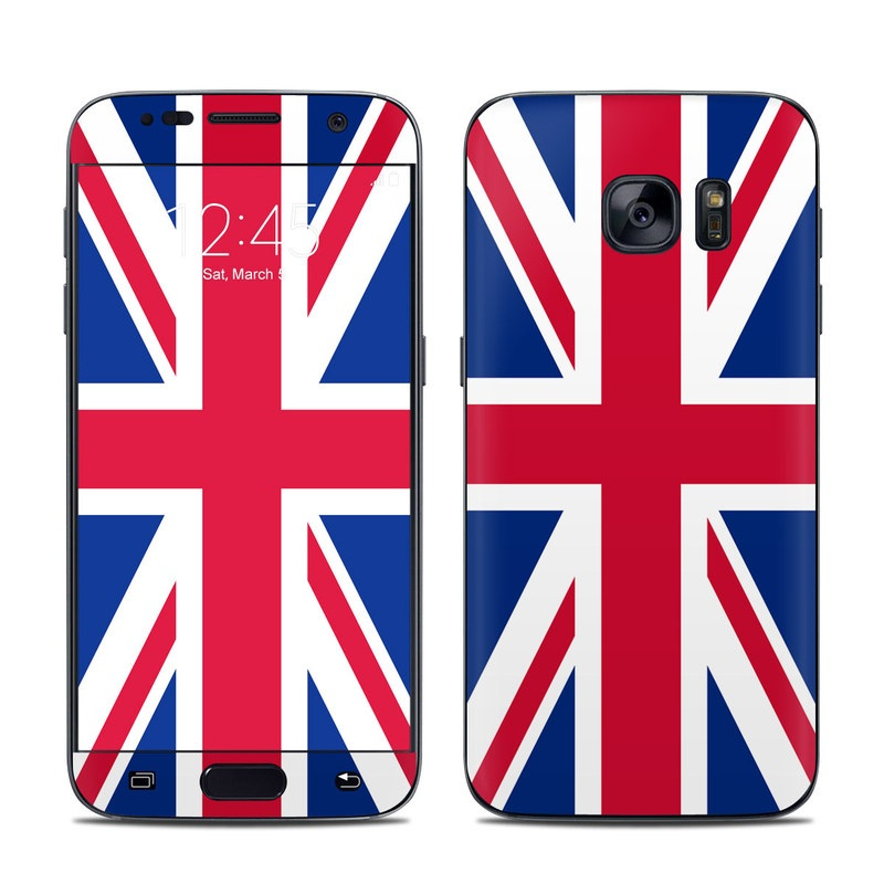 Samsung Galaxy S7 Skin design of Flag, Red, Line, Electric blue, Design, Font, Pattern, Parallel, Flag Day (USA) with red, white, blue colors