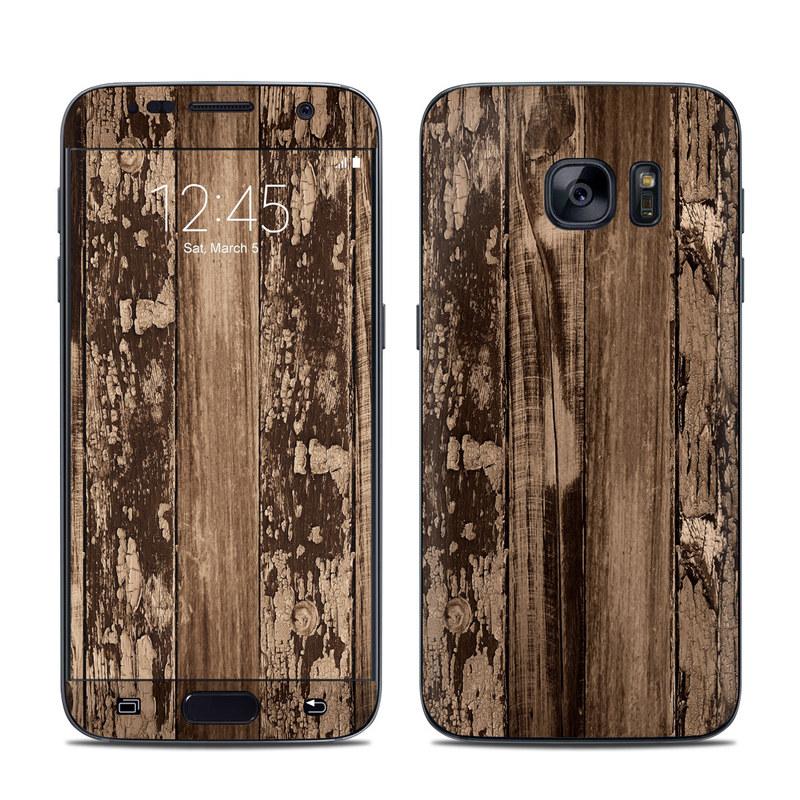 Weathered Wood Galaxy S7 Skin