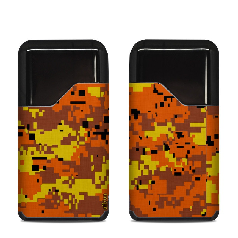 Suorin Air Skin design of Orange, Yellow, Leaf, Tree, Pattern, Autumn, Plant, Deciduous with red, green, black colors