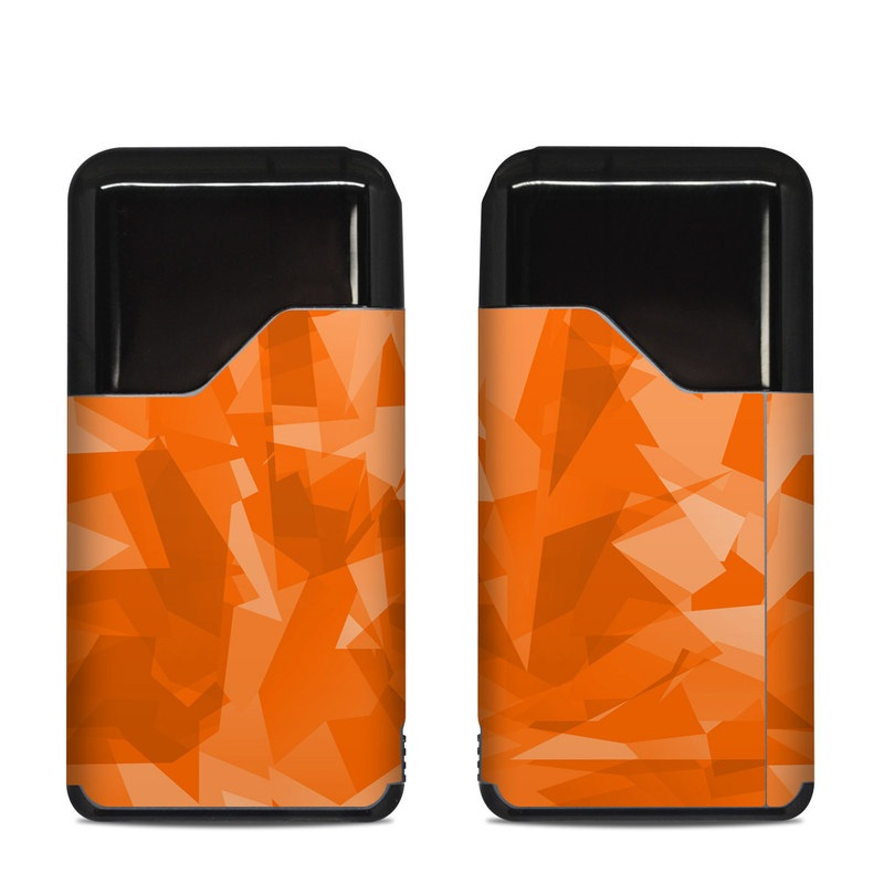 Suorin Air Skin design of Orange, Pattern, Peach, Line, Design, Triangle with orange colors