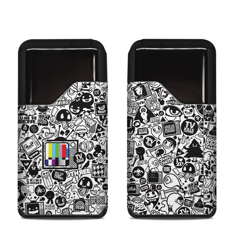 Suorin Air Skin design of Pattern, Drawing, Doodle, Design, Visual arts, Font, Black-and-white, Monochrome, Illustration, Art with gray, black, white colors