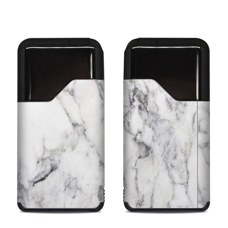 Suorin Air Skin design of White, Geological phenomenon, Marble, Black-and-white, Freezing with white, black, gray colors
