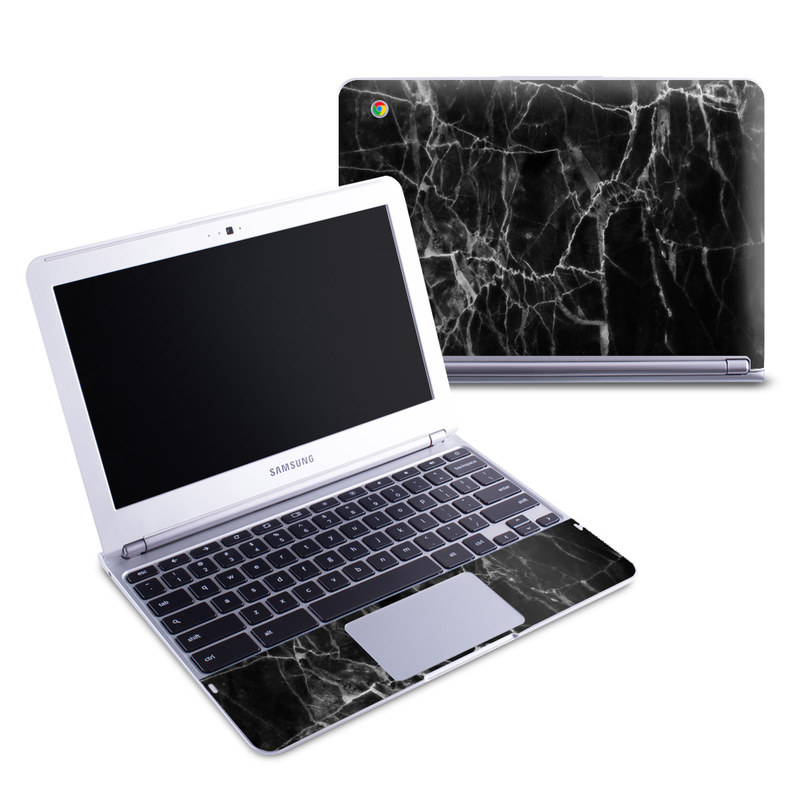 Black Marble Samsung Chromebook 1 Skin