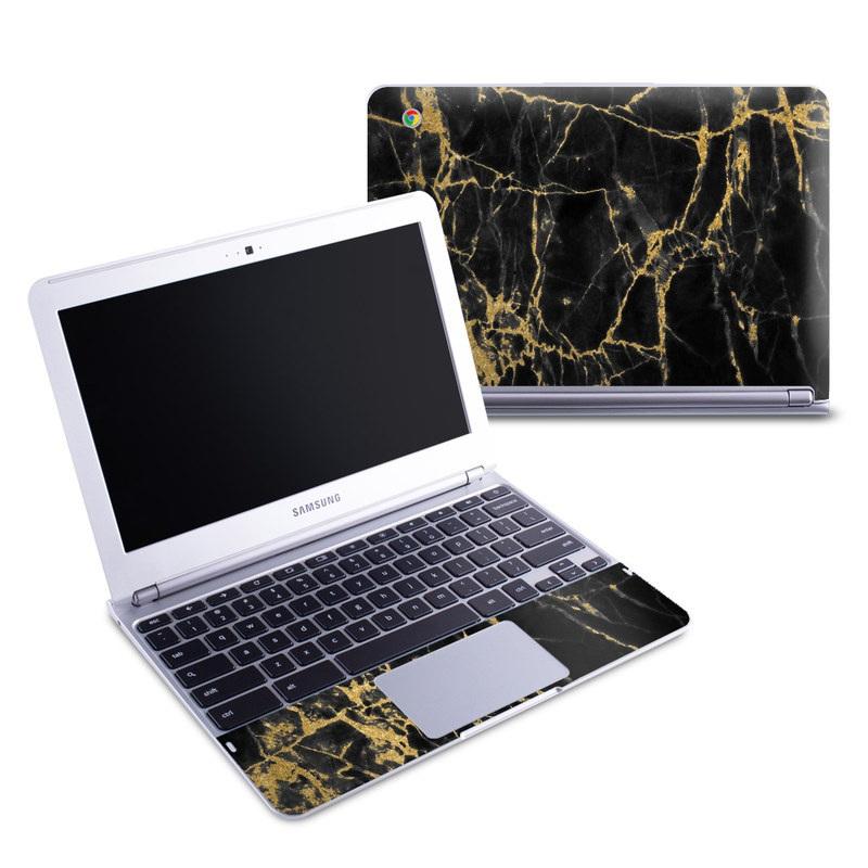 Black Gold Marble Samsung Chromebook 1 Skin