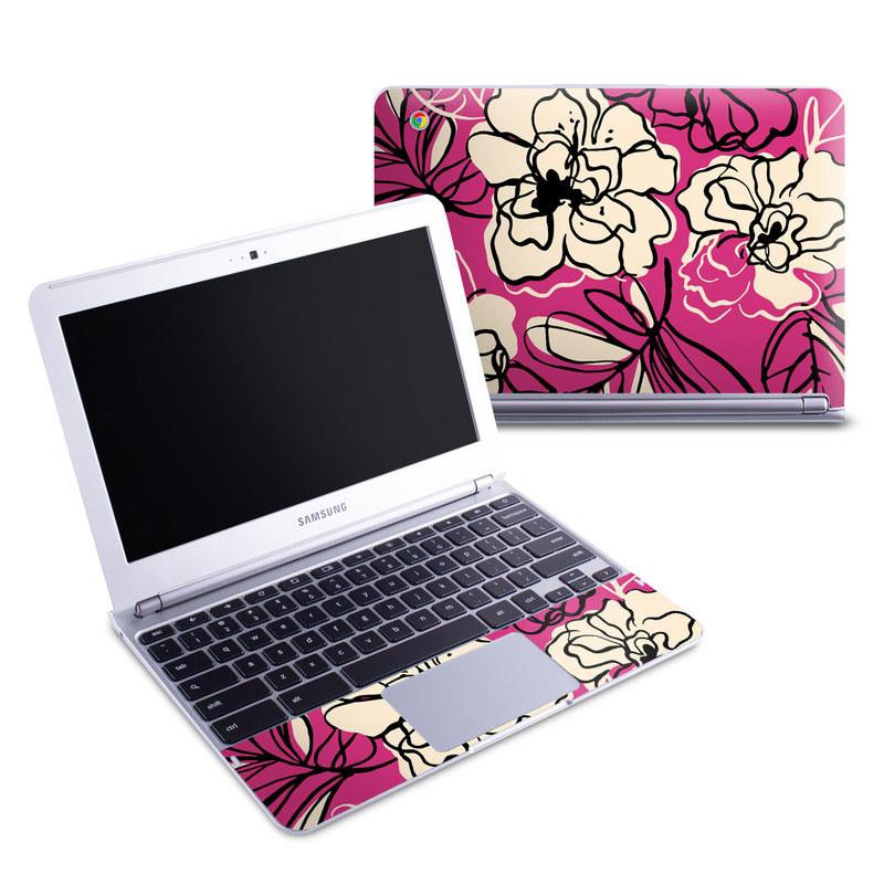 Black Lily Samsung Chromebook 1 Skin