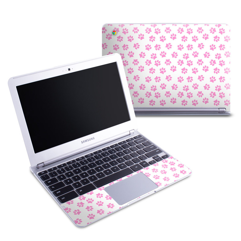 Samsung Chromebook 1 Skin design of Pink, Heart, Pattern, Design, Magenta, Petal, Pedicel, Clip art with white, pink colors