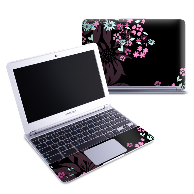 Dark Flowers Samsung Chromebook 1 Skin
