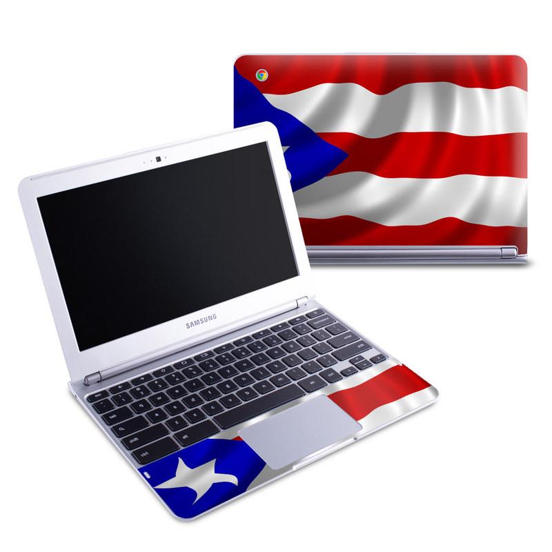 Puerto Rican Flag Samsung Chromebook 1 Skin