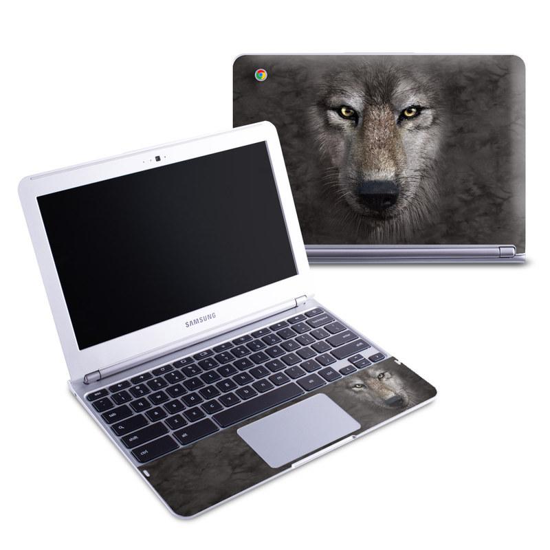 Grey Wolf Samsung Chromebook 1 Skin