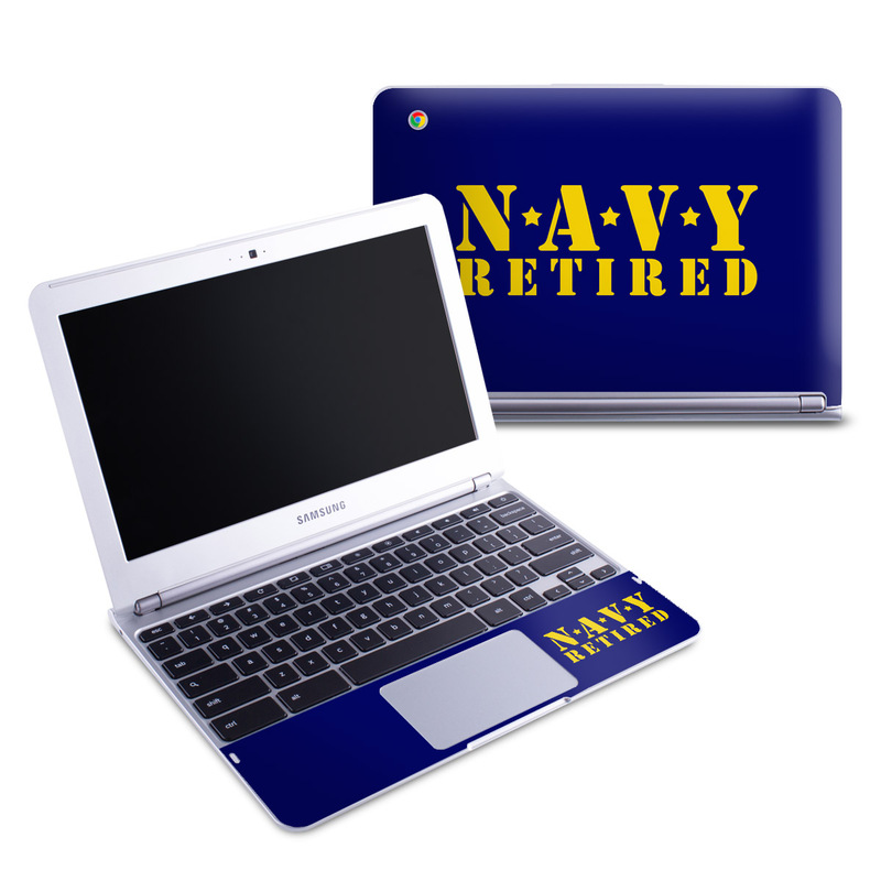 Navy Retired Samsung Chromebook 1 Skin