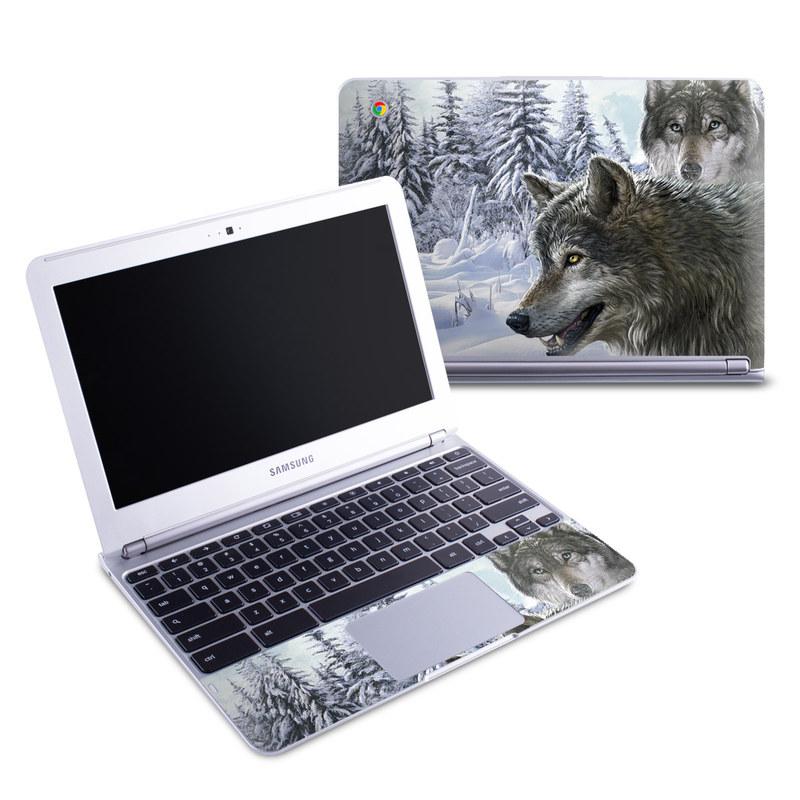 Snow Wolves Samsung Chromebook 1 Skin