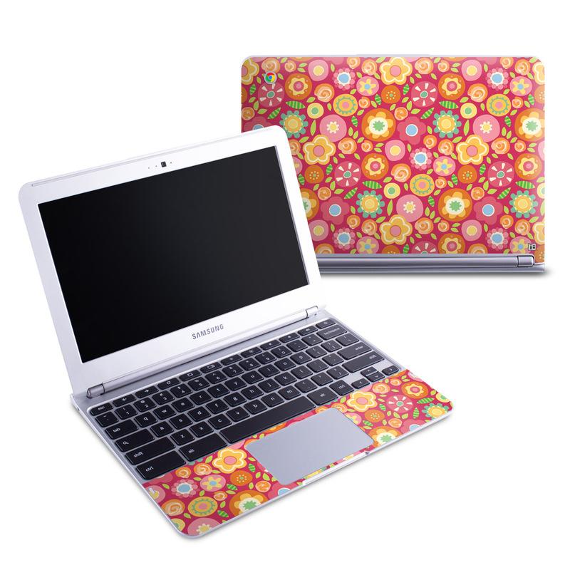 Flowers Squished Samsung Chromebook 1 Skin