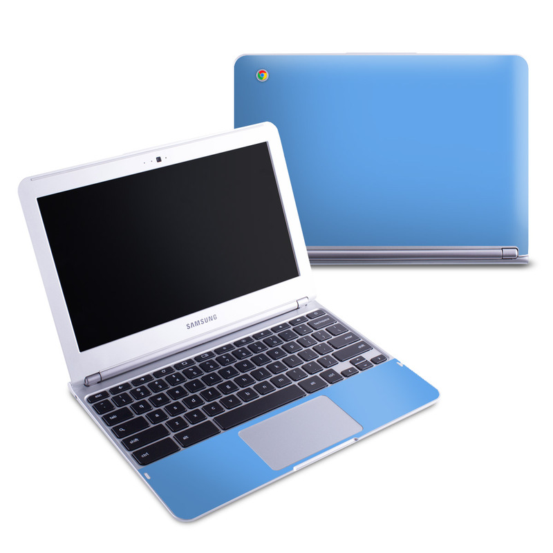 Solid State Blue Samsung Chromebook 1 Skin