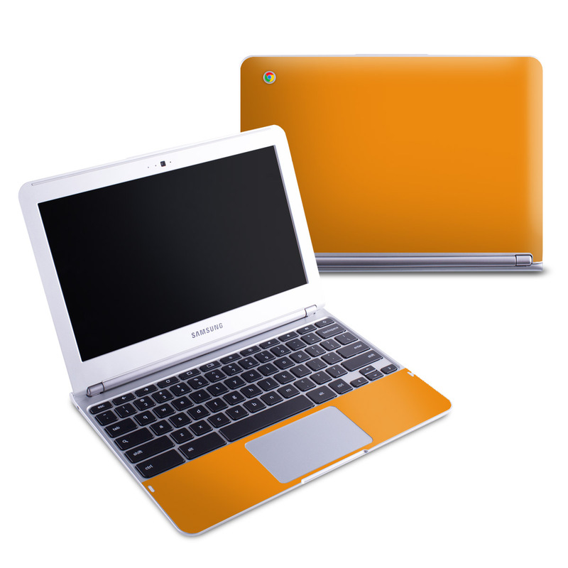 Solid State Orange Samsung Chromebook 1 Skin
