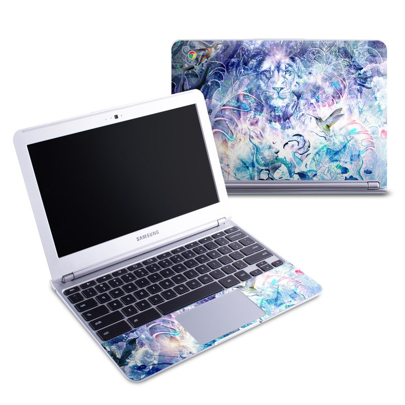 Samsung Chromebook 1 Skin design of Psychedelic art, Water, Fractal art, Art, Pattern, Graphic design, Design, Illustration, Electric blue, Visual arts with blue, purple, green, red, gray, white colors