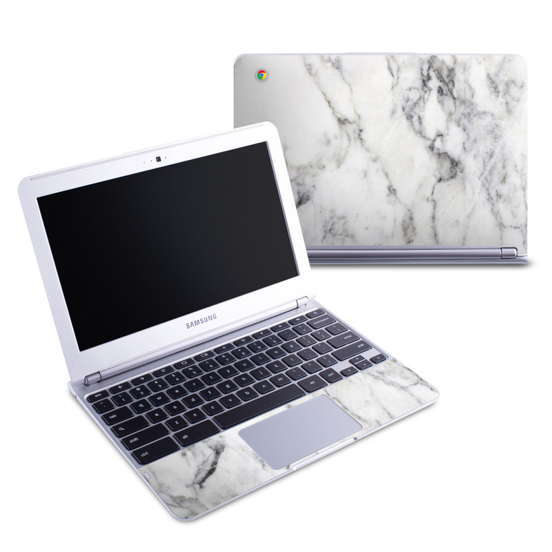 White Marble Samsung Chromebook 1 Skin