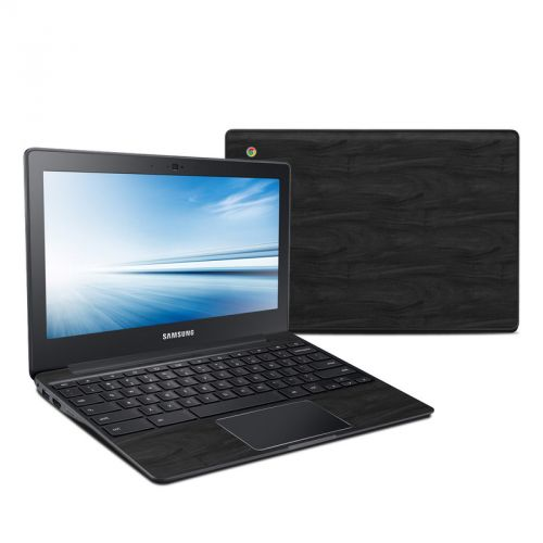 Black Woodgrain Samsung Chromebook 2 Skin