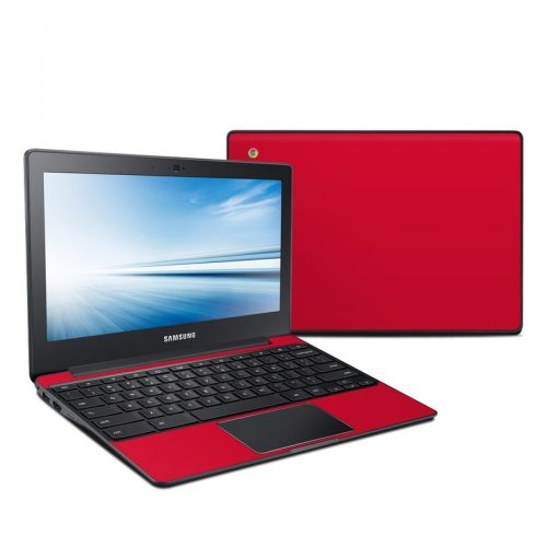 Solid State Red Samsung Chromebook 2 Skin