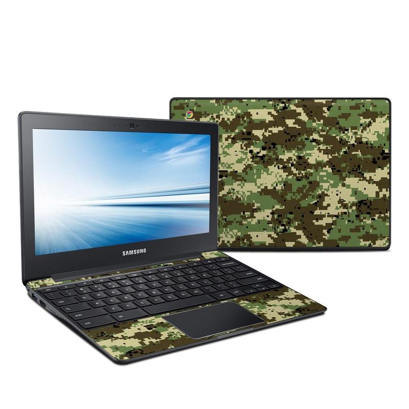 Samsung Chromebook 2 Skin design of Military camouflage, Pattern, Camouflage, Green, Uniform, Clothing, Design, Military uniform with black, gray, green colors