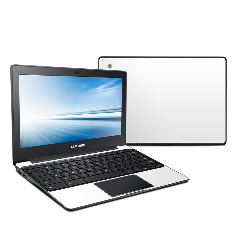 Samsung Chromebook 2 Skin design of White, Black, Line with white colors