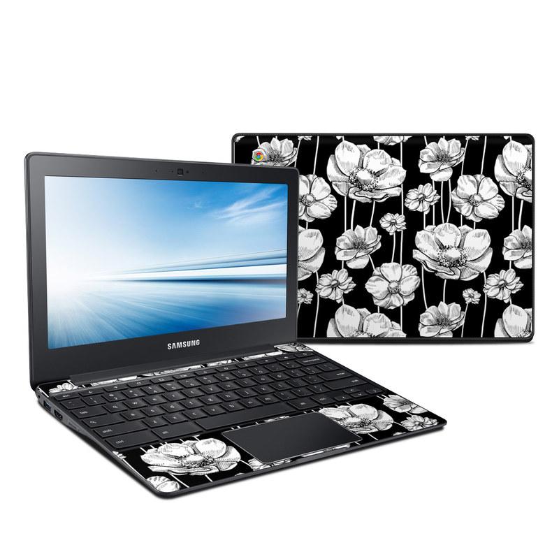 Striped Blooms Samsung Chromebook 2 Skin