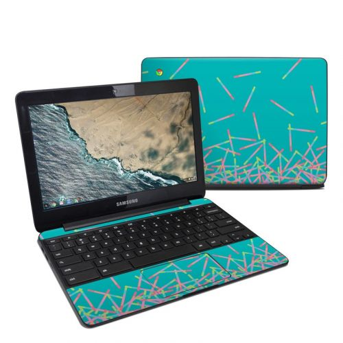 Pop Rocks Wands Samsung Chromebook 3 Skin