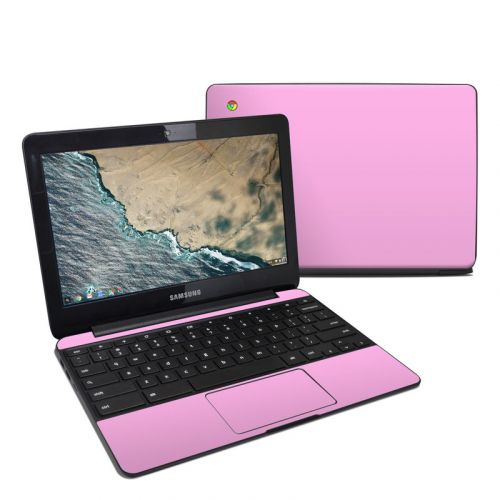 Solid State Pink Samsung Chromebook 3 Skin